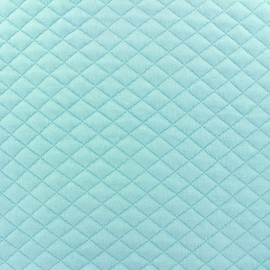 Quilted jersey fabric Diamonds - opaline x 10cm