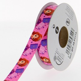Ruban Oeko-tex  satin Disney Princesse Sofia 15 mm