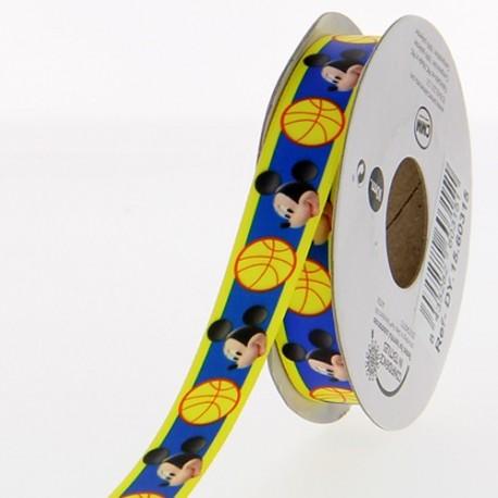 Satin ribbon Disney, Mickey 15mm - navy blue