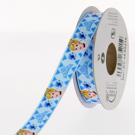 Ruban satin Disney Cendrillon 15 mm