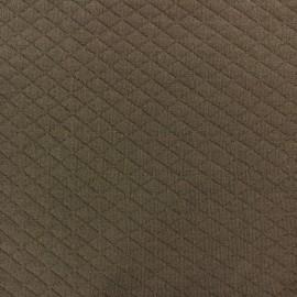 Tissu jersey matelassé losanges 10/20 brun x 10cm