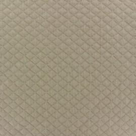 Tissu jersey matelassé losanges 10/20 beige x 10cm
