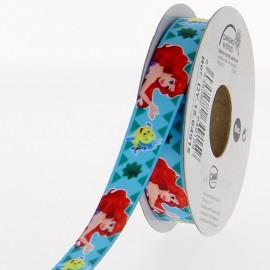 Ruban satin Disney Petite Sirène 15 mm