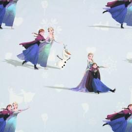 Tissu coton Disney Elsa bleu ciel x 63cm