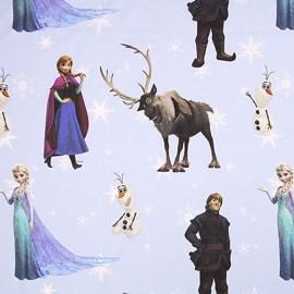 Tissu coton Disney Frozen bleu x 63cm