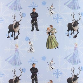 Tissu coton Disney Anna bleu ciel x 63cm