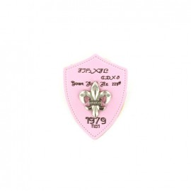 Heraldry brooch Lily 1979 - pink