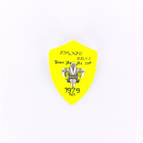 Heraldry brooch Lily 1979 - fluroescent yellow