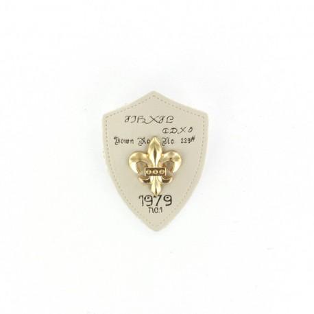 Heraldry brooch Lily 1979 - beige
