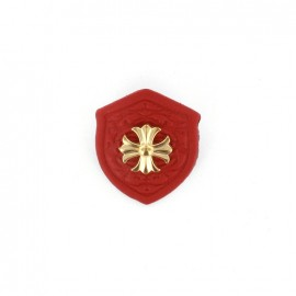 Heraldry brooch Cross - Red