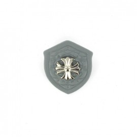 Heraldry brooch Cross - Grey
