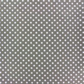 Tissu Jersey Dotty châtaigne x 10cm