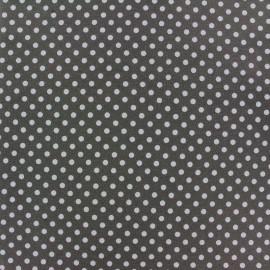 Tissu Jersey Dotty gris x 10cm