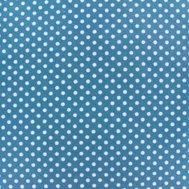 Tissu Jersey Dotty Bleu Canard x 10cm