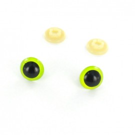 Safety eyes Dog (a pair) - lime