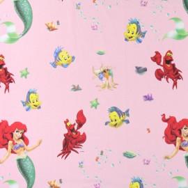 Tissu coton Disney Sirena rose x 64 cm