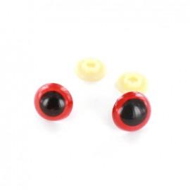Yeux de sécurité Chien 18 mm rouges  (la paire)