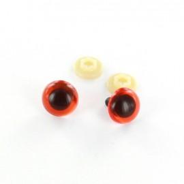 Yeux de sécurité Chien 18 mm orange foncé  (la paire)