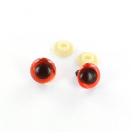 Safety eyes Dog 18 mm (a pair) - dark orange