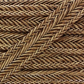 ♥ Coupon 135 cm ♥ Braided Imitation leather ribbon 35 mm - brown
