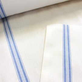 Tea towels canvas fabric - blue x 10cm