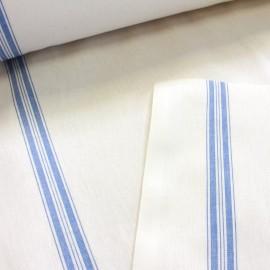 Tissu toile torchon bleu x 10cm