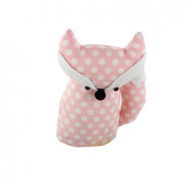 Fox pincushion Little white polka dots - pink