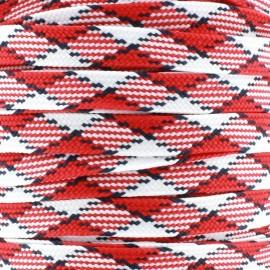 Cordelette plate Scotland rouge