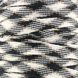 Cordelette plate Scotland noir
