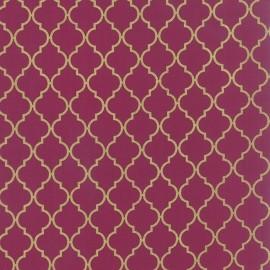 Tissu Quattro boysenberry metallic x 10cm