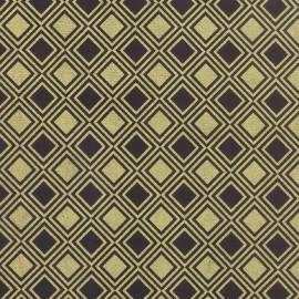 Diamonds fabric - black metallic x 10cm
