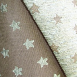 Velvet Canvas Fabric - Star moss/taupe x 10cm