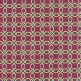 Tissu Tiles boysenberry metallic x 10cm