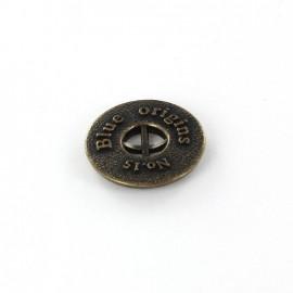 Bouton métal Blue Origins bronze