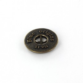 Metal button Blue Origins - bronze