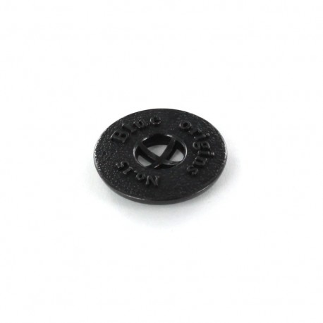 Metal button Blue Origins - black