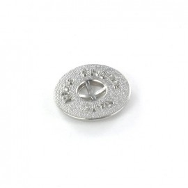 Metal button Blue Origins - silver