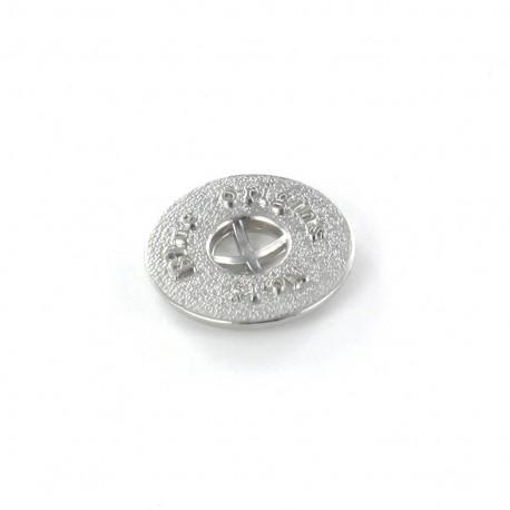 Metal button Blue Origins - silver