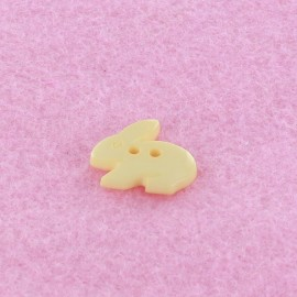 Polyester button, Little rabbit - cream