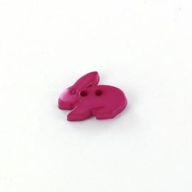 Bouton polyester Little rabbit violet