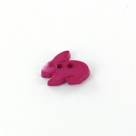 Polyester button, Little rabbit - violet