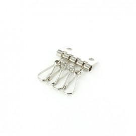 Porte clés nickel 4 crochets