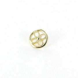 Metal button Little flower - golden