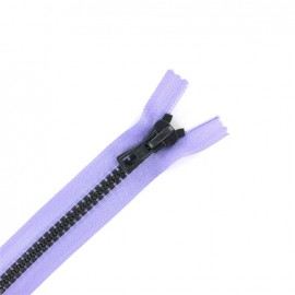 Synthetic two-tone Closed bottom zipper - light purple/grey