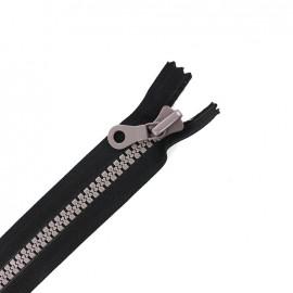 fermeture à glissière non séparable synthétique bicolore - noir/taupe -