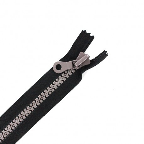 Synthetic two-tone Closed bottom zipper - black/taupe