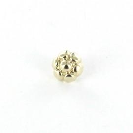 Bouton métal Little Blossom doré