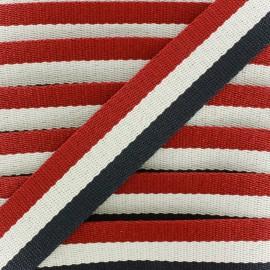 Rayado strap - red/ecru/navy