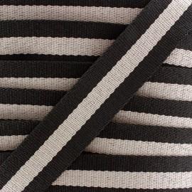 Rayado strap - black/beige