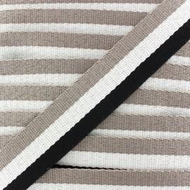 Rayado strap - black/ecru/beige